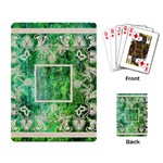 art nouveau green lace playing cards - Playing Cards Single Design