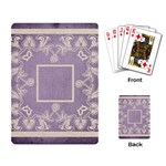 art nouveau purple lace playing cards - Playing Cards Single Design