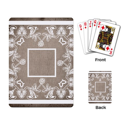 Art Nouveau Mocha Lace Playing Cards By Catvinnat   Playing Cards Single Design   Tt42orlfrmkb   Www Artscow Com Back