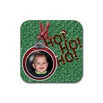 Ho Ho Ho  Christmas Coaster - Rubber Coaster (Square)