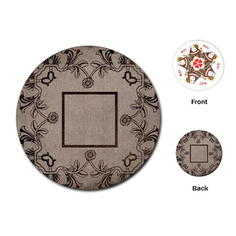 Art Nouveau Mocha Round Playing Cards By Catvinnat   Playing Cards (round)   Nw7udemf3r2v   Www Artscow Com Front