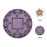 art nouveau purple round playing cards - Playing Cards (Round)