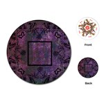 art nouveau deep purple round playing cards - Playing Cards (Round)