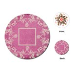 art nouveau pink lace round playing cards - Playing Cards (Round)