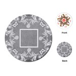 art nouveau grey lace round playing cards - Playing Cards (Round)