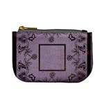 art nouveau purple mini coin purse