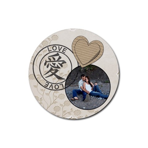 Love Coaster By Lil    Rubber Coaster (round)   Axvl9nt7opsu   Www Artscow Com Front