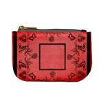 art nouveau red mini coin purse
