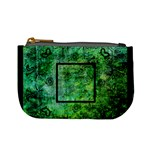 art nouveau deep green mini coin purse