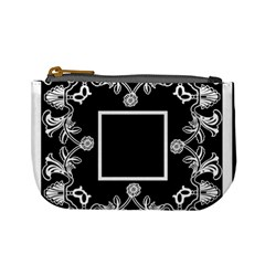 Art Nouveau Black & Cream Mini Coin Purse By Catvinnat   Mini Coin Purse   Ab7xtmpblej2   Www Artscow Com Front