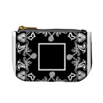 art nouveau black & cream mini coin purse