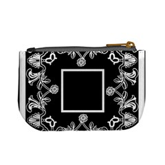 Art Nouveau Black & Cream Mini Coin Purse By Catvinnat   Mini Coin Purse   Ab7xtmpblej2   Www Artscow Com Back