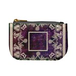 art nouveau purple lace mini coin purse