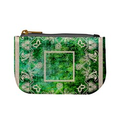 Art Nouveau Green Lace Mini Coin Purse By Catvinnat   Mini Coin Purse   Odtrndf3u5wa   Www Artscow Com Front
