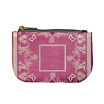 art nouveau pink lace mini coin purse