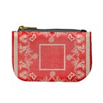 art nouveau red lace mini coin purse