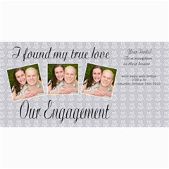 Engagement Announcement By Danielle Christiansen   4  X 8  Photo Cards   209h6lso5kmc   Www Artscow Com 8 x4 Photo Card - 1