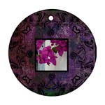 art nouveau deep purple round ornament - Round Ornament (Two Sides)
