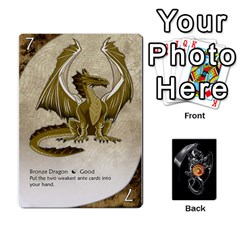 Three Dragon Ante (1 Of 2) By Gaines Kergosien   Playing Cards 54 Designs   Eis98tir5nmf   Www Artscow Com Front - Diamond9