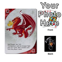 Three Dragon Ante (1 Of 2) By Gaines Kergosien   Playing Cards 54 Designs   Eis98tir5nmf   Www Artscow Com Front - Club10