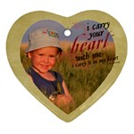 Heart Ornament-I carry your heart with me - Ornament (Heart)