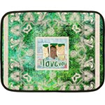 Art nouveau green lace mini fleece - Mini Fleece Blanket