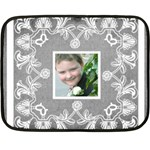 Art nouveau grey lace mini fleece - Fleece Blanket (Mini)