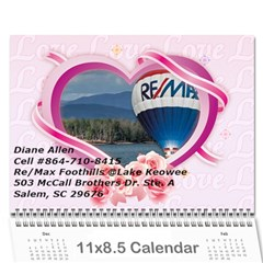 Dream Lake Keowee 2011 By Diane Allen   Wall Calendar 11  X 8 5  (12 Months)   Tntbbctdp0vi   Www Artscow Com Cover