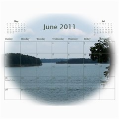 Dream Lake Keowee 2011 By Diane Allen   Wall Calendar 11  X 8 5  (12 Months)   Tntbbctdp0vi   Www Artscow Com Jun 2011