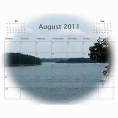 Dream Lake Keowee 2011 By Diane Allen   Wall Calendar 11  X 8 5  (12 Months)   Tntbbctdp0vi   Www Artscow Com Aug 2011