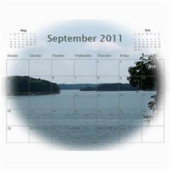 Dream Lake Keowee 2011 By Diane Allen   Wall Calendar 11  X 8 5  (12 Months)   Tntbbctdp0vi   Www Artscow Com Sep 2011