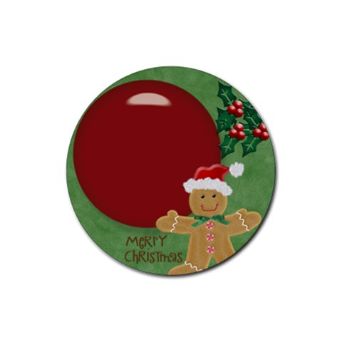 Christmas By Melinda Bow   Rubber Coaster (round)   Vznm62vbr0bq   Www Artscow Com Front