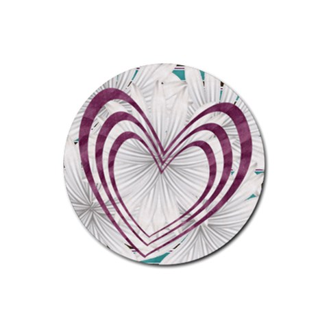 Love By Melinda Bow   Rubber Coaster (round)   Gud2ifz8acby   Www Artscow Com Front