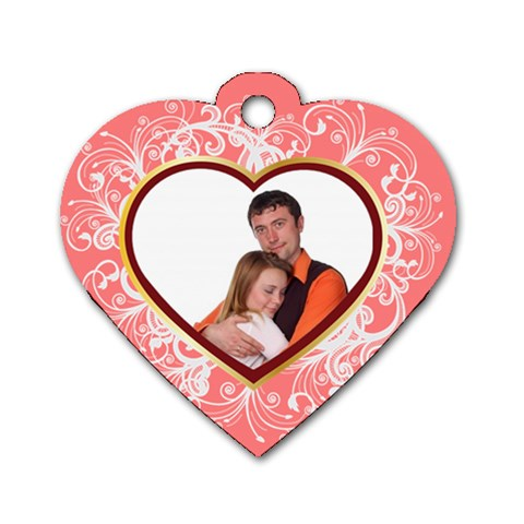 Love Tag By Wood Johnson   Dog Tag Heart (one Side)   Rx81il795k50   Www Artscow Com Front