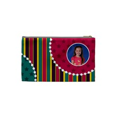 Stripes & Circles Cosmetic Bag By Klh   Cosmetic Bag (small)   Iw8bnw51cp62   Www Artscow Com Back