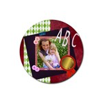 abc theme - Rubber Round Coaster (4 pack)