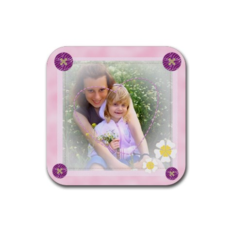 Kids Of Love By Joely   Rubber Coaster (square)   Xry9o6czo1jg   Www Artscow Com Front