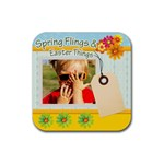 spring flings - Rubber Coaster (Square)
