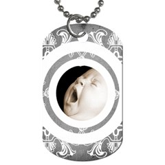 Art Nouveau Grey Lace 2 Dog Tag By Catvinnat   Dog Tag (two Sides)   9jrpcwjjx795   Www Artscow Com Back