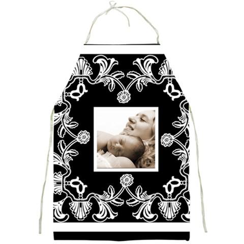 Art Nouveau Black & White Full Print Apron By Catvinnat   Full Print Apron   34mbsn171kv7   Www Artscow Com Front