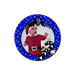 Blue Christmas- Rubber coaster - Rubber Coaster (Round)