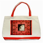 Art Nouveau Red Tote  - Classic Tote Bag (Red)