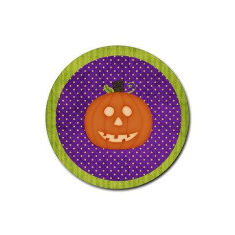 Halloween Coaster 1 By Sheena   Rubber Coaster (round)   T0to570jdgg6   Www Artscow Com Front