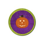 halloween coaster 1 - Rubber Coaster (Round)
