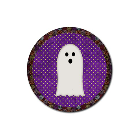 Halloween Coaster2 By Sheena   Rubber Coaster (round)   Jft3fgdh6v6p   Www Artscow Com Front
