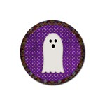 halloween coaster2 - Rubber Coaster (Round)