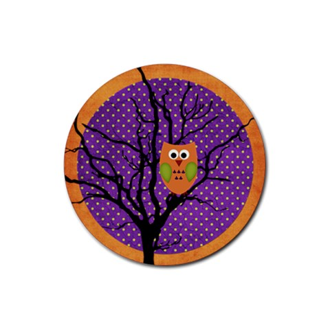 Halloween Coaster3 By Sheena   Rubber Coaster (round)   Wwnlj0tqx7oh   Www Artscow Com Front