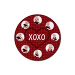 valentine coaster template - Rubber Round Coaster (4 pack)
