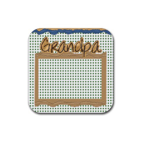 Grandpa 4pk Coaster Template By Danielle Christiansen   Rubber Square Coaster (4 Pack)   Kqr0xphvcpsp   Www Artscow Com Front