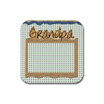 grandpa 4pk coaster template - Rubber Square Coaster (4 pack)